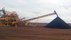 Iron-Ore-Fines-being-discharged-from-a-Stacker-Conveyor